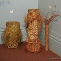Handwoven harakeke waikawa, palm, basket