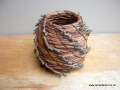 Pine needle coiled pot sold
