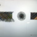 Three of my wall hangings - Wild Fibre exhibition