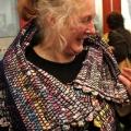 Anne Daniel modelling Weekend Press cloak